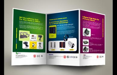 300gsm high quality gloss or silk art paper Folded Brochure Printing
