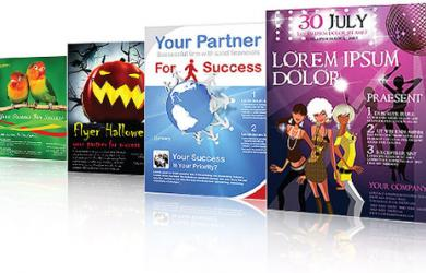 300gsm high quality gloss or silk art paper Leaflets / Flyers Printing