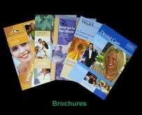 Brochure printing service - double folded, 80gsm gloss art paper