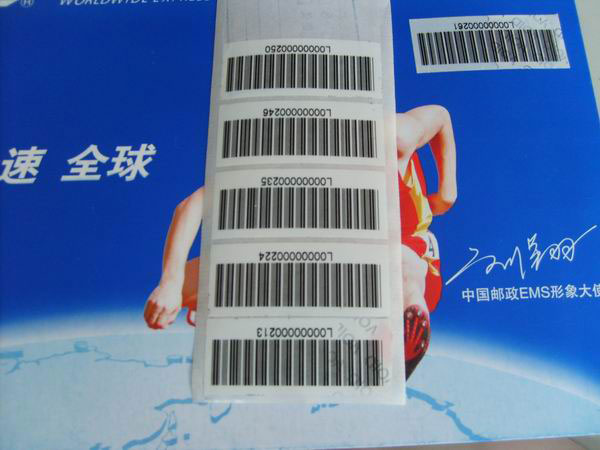 Barcode Serial No sticker printing