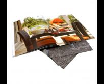 Staple Full Color Furniture Catalog Printing-butterfly staple binding