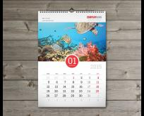 Wall calendar, Wire-O Bound wall calendar
